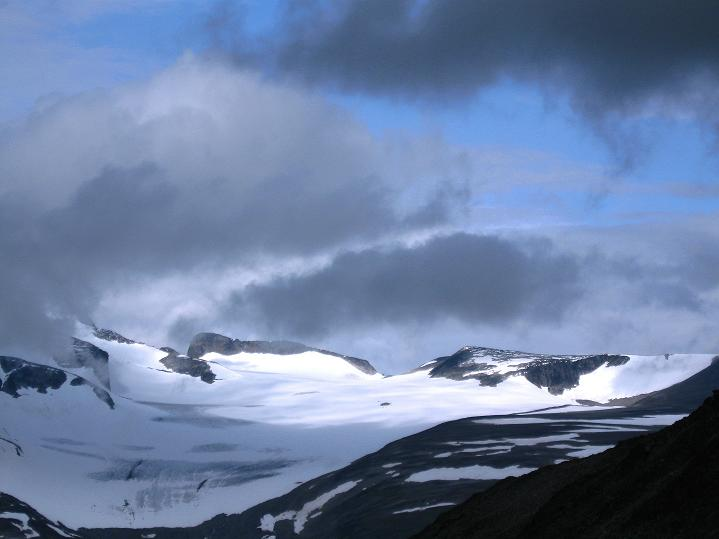 Foto: Andreas Koller / Wander Tour / Von Spiterstulen auf den Glittertind (2465 m) / Blick zum Styggebreen / 05.08.2009 18:57:41
