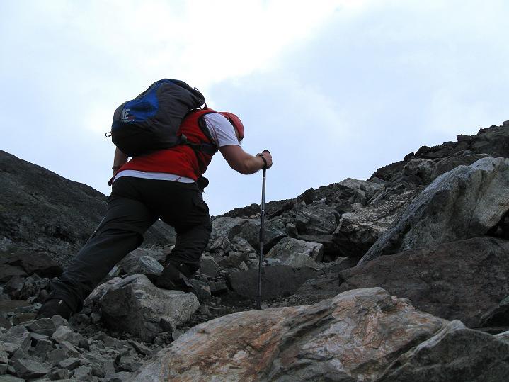 Foto: Andreas Koller / Wander Tour / Von Spiterstulen auf den Glittertind (2465 m) / Am blockigen Westsporn / 05.08.2009 18:57:23