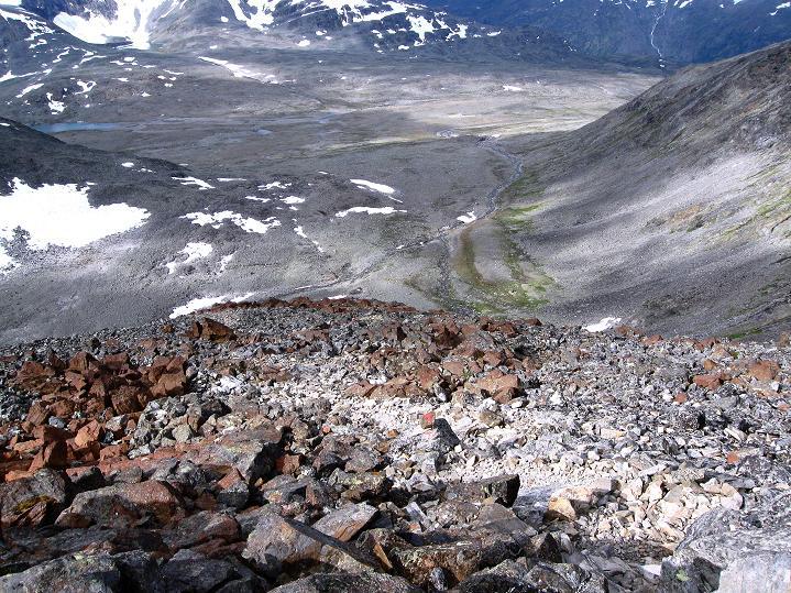 Foto: Andreas Koller / Wander Tour / Von Spiterstulen auf den Glittertind (2465 m) / Über den Westsporn in die Westflanke / 05.08.2009 18:56:25