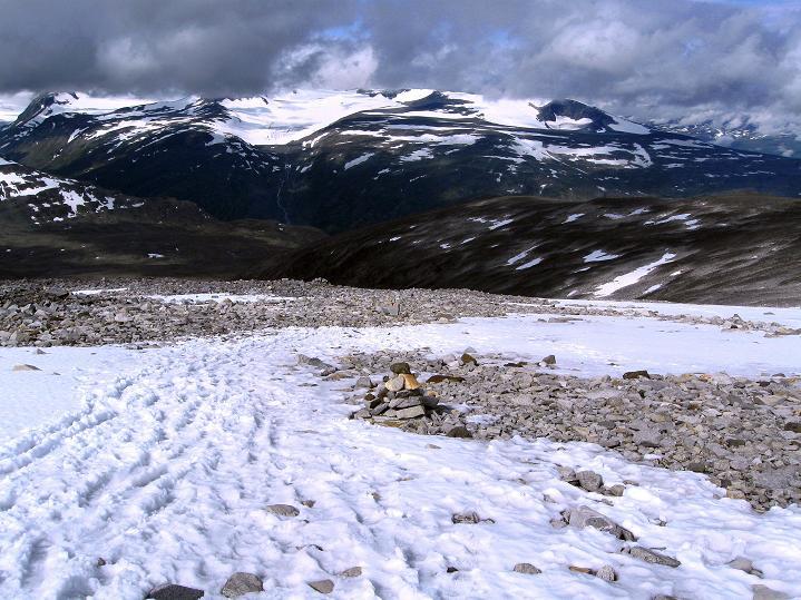 Foto: Andreas Koller / Wander Tour / Von Spiterstulen auf den Glittertind (2465 m) / In der Westflanke / 05.08.2009 18:54:15