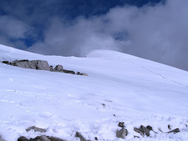 Foto: Andreas Koller / Wander Tour / Von Spiterstulen auf den Glittertind (2465 m) / Die Gipfeleiskappe des Glittertind / 05.08.2009 18:48:28