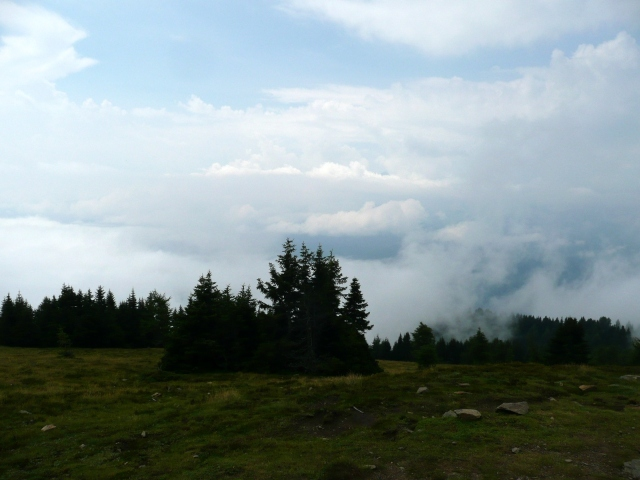 Foto: berglerin / Wander Tour / Palnock (1901m) / Bei Schönwetter hätte man hier ein tolles Panorama / 03.08.2009 20:15:26