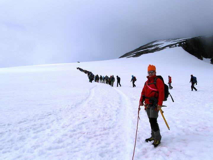 Foto: Andreas Koller / Wander Tour / Galdhopiggen (2469m) - Gletschertour auf den höchsten Berg Nordeuropas  / 07.08.2009 01:09:55
