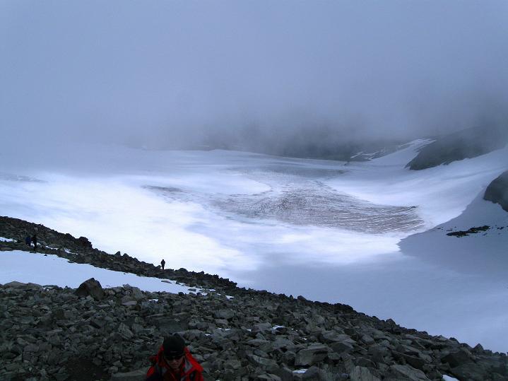 Foto: Andreas Koller / Wander Tour / Galdhopiggen (2469m) - Gletschertour auf den höchsten Berg Nordeuropas  / Styggebreen / 07.08.2009 01:06:50