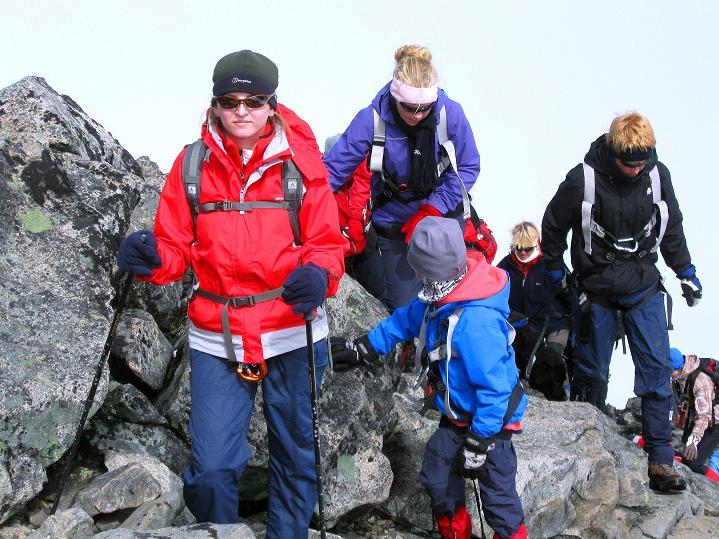 Foto: Andreas Koller / Wander Tour / Galdhopiggen (2469m) - Gletschertour auf den höchsten Berg Nordeuropas  / Nicht alleine am N-Sporn / 07.08.2009 01:06:16