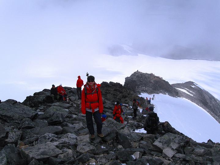 Foto: Andreas Koller / Wander Tour / Galdhopiggen (2469m) - Gletschertour auf den höchsten Berg Nordeuropas  / 07.08.2009 01:04:28