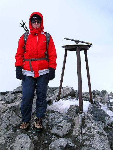 Foto: Andreas Koller / Wander Tour / Galdhopiggen (2469m) - Gletschertour auf den höchsten Berg Nordeuropas  / Einmal kurz allein am Gipfel / 07.08.2009 00:58:18