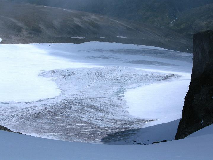 Foto: Andreas Koller / Wander Tour / Galdhopiggen (2469m) - Gletschertour auf den höchsten Berg Nordeuropas  / Styggebreen / 07.08.2009 00:56:05