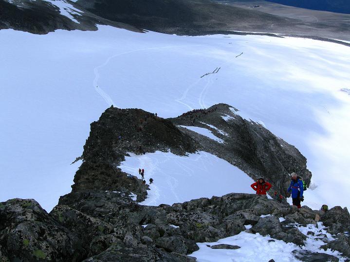 Foto: Andreas Koller / Wander Tour / Galdhopiggen (2469m) - Gletschertour auf den höchsten Berg Nordeuropas  / N-Sporn / 07.08.2009 00:55:07