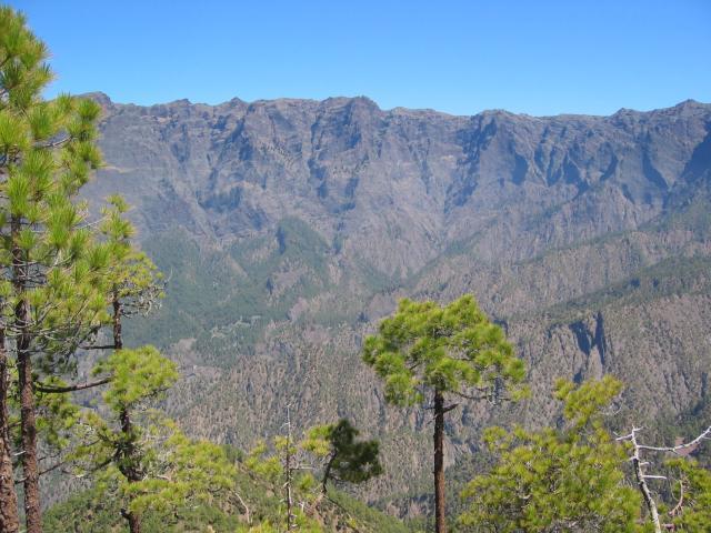 Foto: elipes / Wander Tour / Pico Bejenado / Blick vom Aufstiegsweg in die Caldera / 04.08.2009 12:14:59