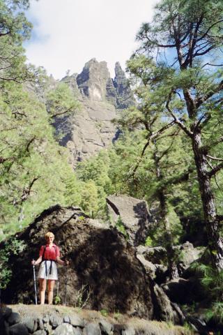 Foto: elipes / Wander Tour / Von Los Brecitos durch die Caldera / Abstiegsweg zum Zeltplatz / 11.08.2009 08:48:06