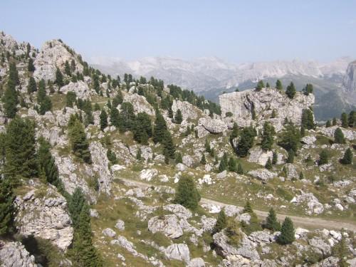 Foto: hofsab / Mountainbike Tour / Rund um den Langkofel über Col Rodela (2484 m) / die Steinerne Stadt / 27.08.2009 21:31:06