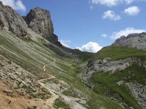 Foto: hofsab / Mountainbike Tour / Rund um den Schlern über Eselrücken (2560 m) und Prügelweg / herrlich fahrbar / 27.08.2009 21:07:25