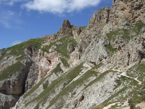 Foto: hofsab / Mountainbike Tour / Rund um den Schlern über Eselrücken (2560 m) und Prügelweg / Blick nach vorn - Schluss mit lustig / 27.08.2009 21:08:01