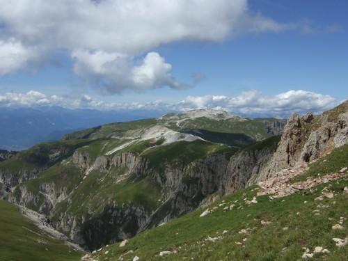 Foto: hofsab / Mountainbike Tour / Rund um den Schlern über Eselrücken (2560 m) und Prügelweg / am Eselrücken / 27.08.2009 21:08:59