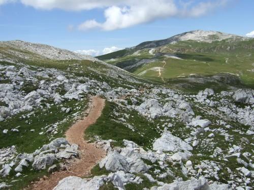 Foto: hofsab / Mountainbike Tour / Rund um den Schlern über Eselrücken (2560 m) und Prügelweg / durchwegs akzeptabel / 27.08.2009 21:10:08