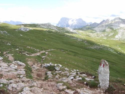 Foto: hofsab / Mountainbike Tour / Rund um den Schlern über Eselrücken (2560 m) und Prügelweg / Trail wird zunehmend verblockter / 27.08.2009 21:13:12