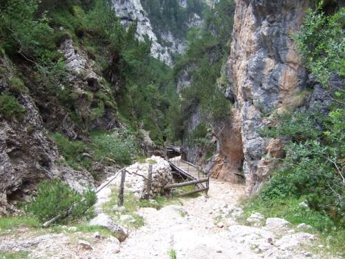 Foto: hofsab / Mountainbike Tour / Rund um den Schlern über Eselrücken (2560 m) und Prügelweg / bis zum Prügelweg heißt es viel schieben / 27.08.2009 21:14:20