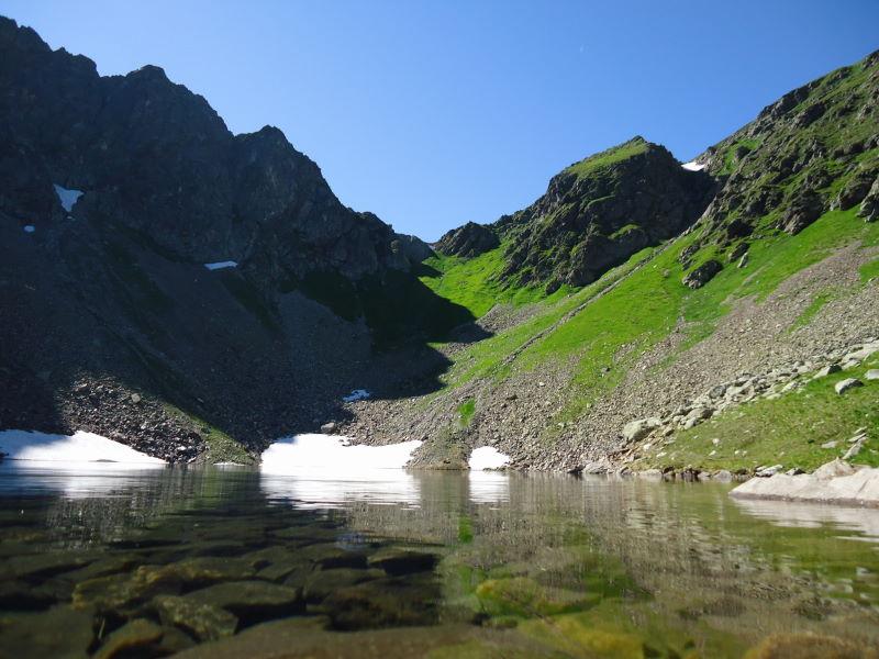 Foto: Günter Siegl / Wander Tour / Über den Gefrorenen See zum Dreistecken-Grat (2449 m) / 04.08.2013 13:08:31