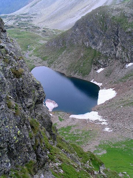 Foto: Andreas Koller / Wander Tour / Über den Gefrorenen See zum Dreistecken-Grat (2449 m) / Der Gefrorenen See von hoher Warte / 07.08.2009 16:47:58