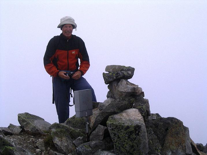 Foto: Andreas Koller / Wander Tour / Über den Gefrorenen See zum Dreistecken-Grat (2449 m) / Am Dreistecken-Gipfel / 07.08.2009 16:47:10