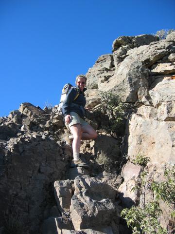 Foto: elipes / Wander Tour / Von der Ermita Virgen del Pino zur Punta de los Roques / Abstieg von der Punta de los Roques / 10.08.2009 19:48:18
