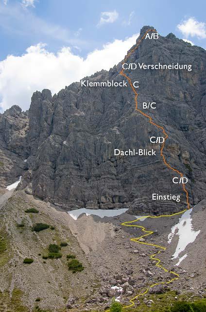 Foto: felskraxler / Klettersteig Tour / Lachenspitze Nordwand Klettersteig / Bewertung nicht ganz korrekt, 2 Stellen im D-Bereich / 11.08.2009 00:45:33