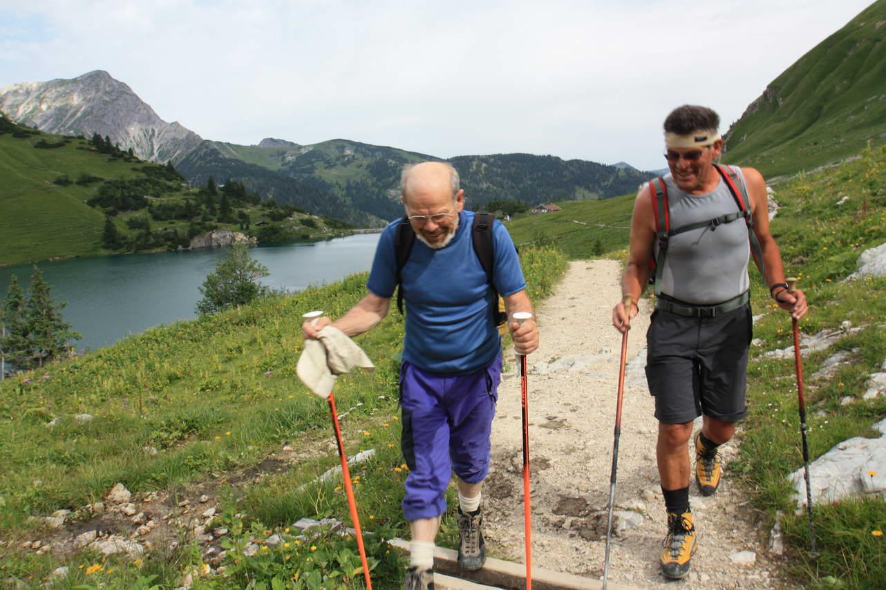 Foto: felskraxler / Klettersteig Tour / Lachenspitze Nordwand Klettersteig / Zustieg zur Landsberger Hütte / 11.08.2009 00:45:57