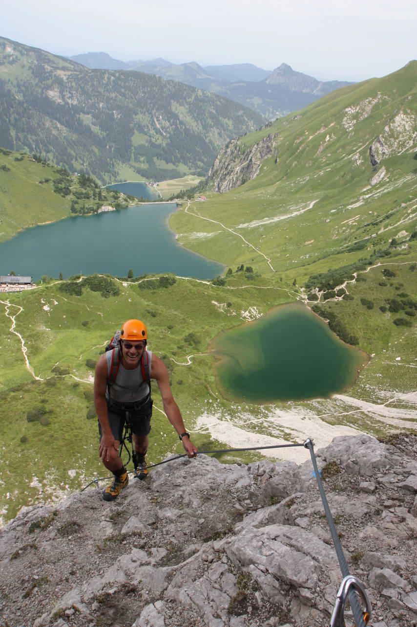 Foto: felskraxler / Klettersteig Tour / Lachenspitze Nordwand Klettersteig / 3 Seenblick Klettersteig / 11.08.2009 00:48:15