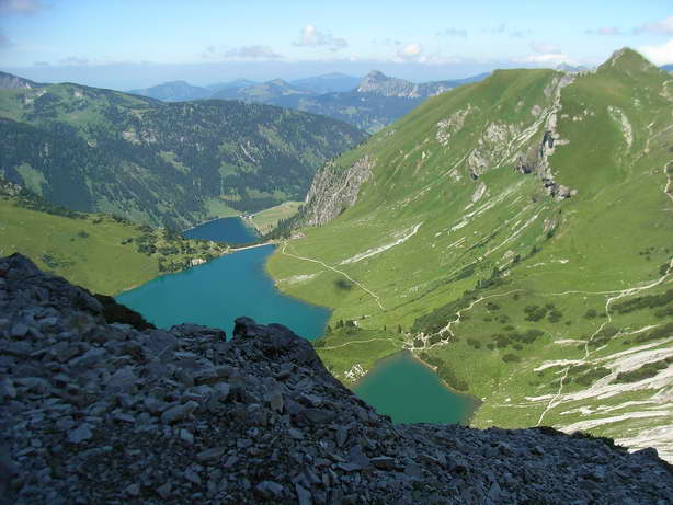 Foto: felskraxler / Klettersteig Tour / Lachenspitze Nordwand Klettersteig / Panoramablick / 11.08.2009 00:35:43