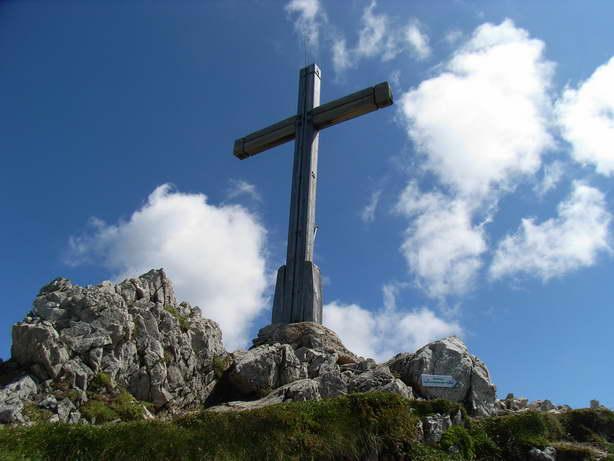 Foto: felskraxler / Klettersteig Tour / Lachenspitze Nordwand Klettersteig / Gipfelkreuz  / 11.08.2009 00:37:28