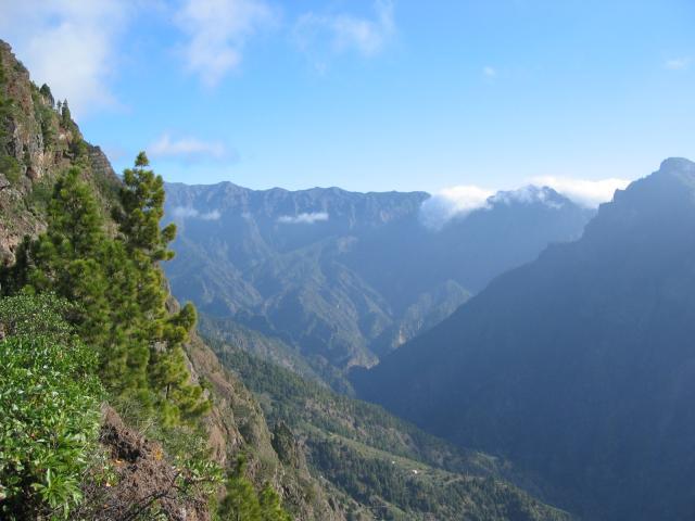 Foto: elipes / Wander Tour / Vom Mirador El Time zum Torre del Time / Blick zum Roque de los Muchachos / 11.08.2009 09:20:46