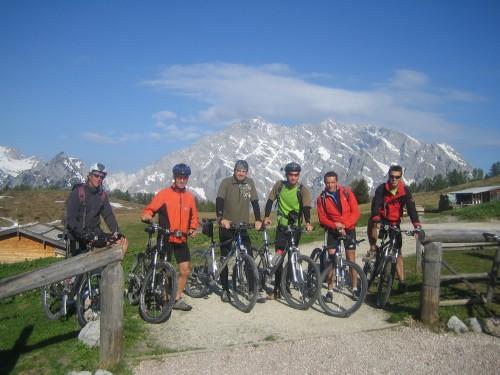 Foto: hofsab / Mountainbike Tour / Gotzenalm (1685m) von Berchtesgaden / vor der Abfahrt von der Gotzenalm / 26.08.2009 12:56:31