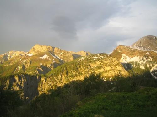 Foto: hofsab / Mountainbike Tour / Gotzenalm (1685m) von Berchtesgaden / Abendstimmung auf der Gotzenalm / 26.08.2009 12:55:41