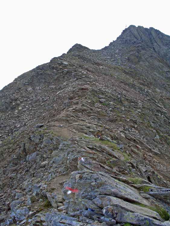 Foto: vince 51 / Wander Tour / Vom Kühtai auf den Rietzer Grieskogel / der Gipfelgrat / 11.08.2009 22:56:34
