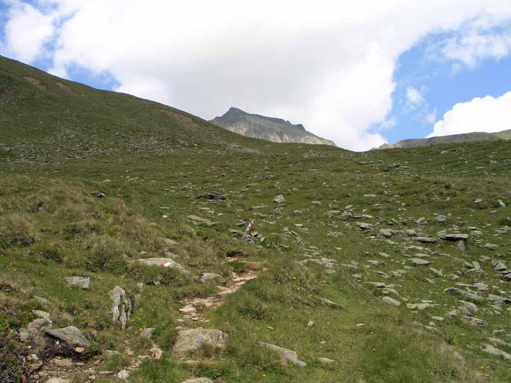 Foto: vince 51 / Wander Tour / Vom Kühtai auf den Rietzer Grieskogel / erster Blick auf den Gipfel / 11.08.2009 22:50:53