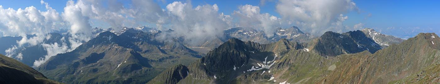 Foto: vince 51 / Wander Tour / Vom Kühtai auf den Rietzer Grieskogel / Blick nach Süden / 11.08.2009 22:48:36