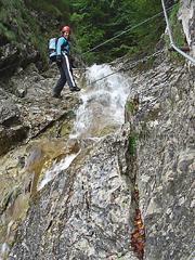 Foto: Kurt Schall / Klettersteig Tour / Rotschitza-Klamm-Klettersteig / 12.08.2009 17:20:22