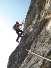 """Foto: Kurt Schall / Klettersteig Tour / Klettersteig """"Dreifaltigkeit"""" / 12.08.2009 17:38:34"""