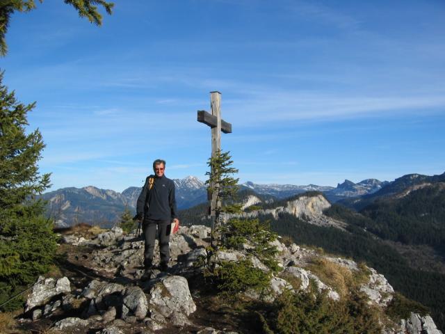 Foto: pepi4813 / Wander Tour / Über den Radsteig auf den Predigstuhl / Gipfelkreuz Predigstuhl / 13.08.2009 10:39:08