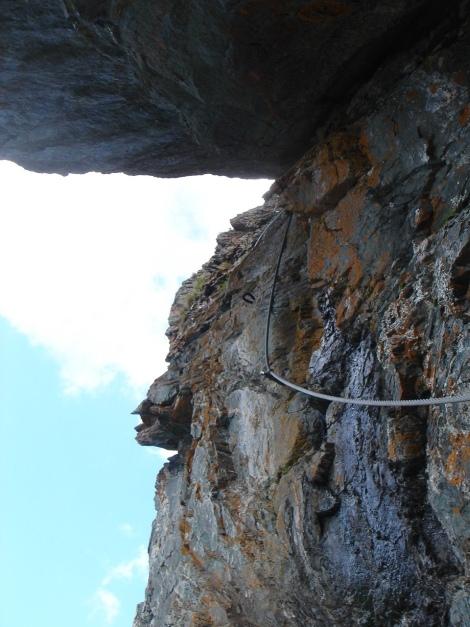 Foto: Manfred Karl / Klettersteig Tour / Falken Klettersteig / Die überdachte Verschneidung / 14.08.2009 21:41:05