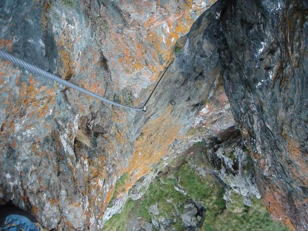 Foto: Manfred Karl / Klettersteig Tour / Falken Klettersteig / In der Verschneidung / 14.08.2009 21:39:39