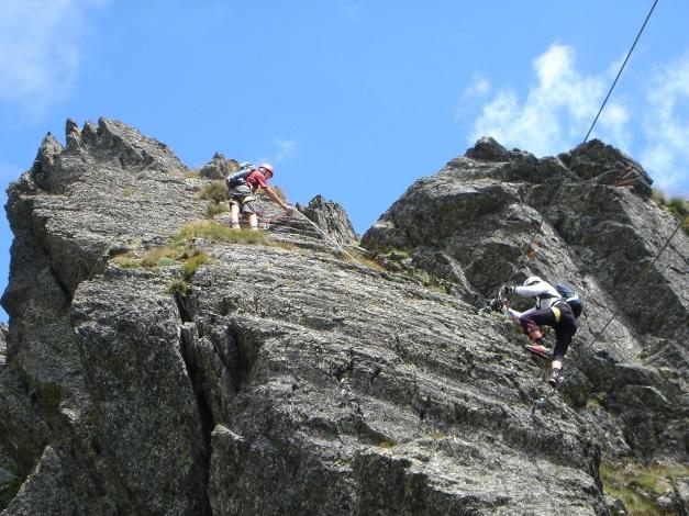 Foto: Manfred Karl / Klettersteig Tour / Falken Klettersteig / 14.08.2009 21:25:23