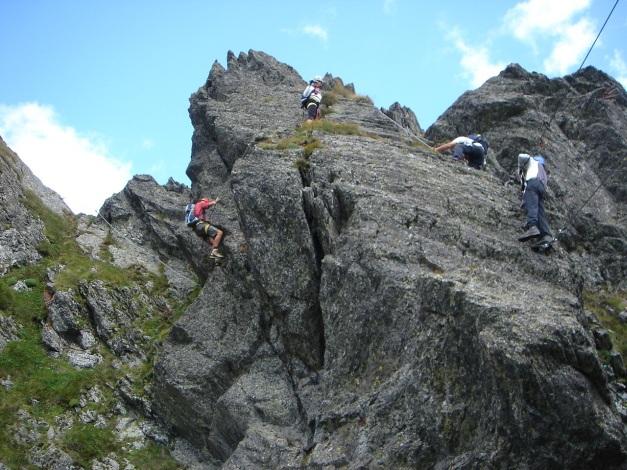 Foto: Manfred Karl / Klettersteig Tour / Falken Klettersteig / Ausstiegswandl / 14.08.2009 21:24:03