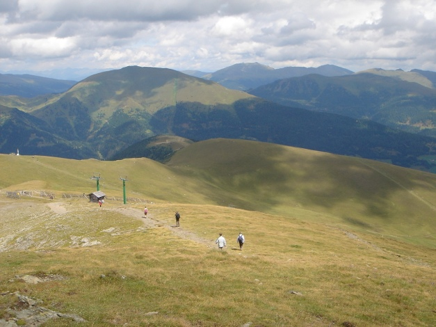 Foto: Manfred Karl / Klettersteig Tour / Falken Klettersteig / Abstieg am Normalweg / 14.08.2009 21:13:59