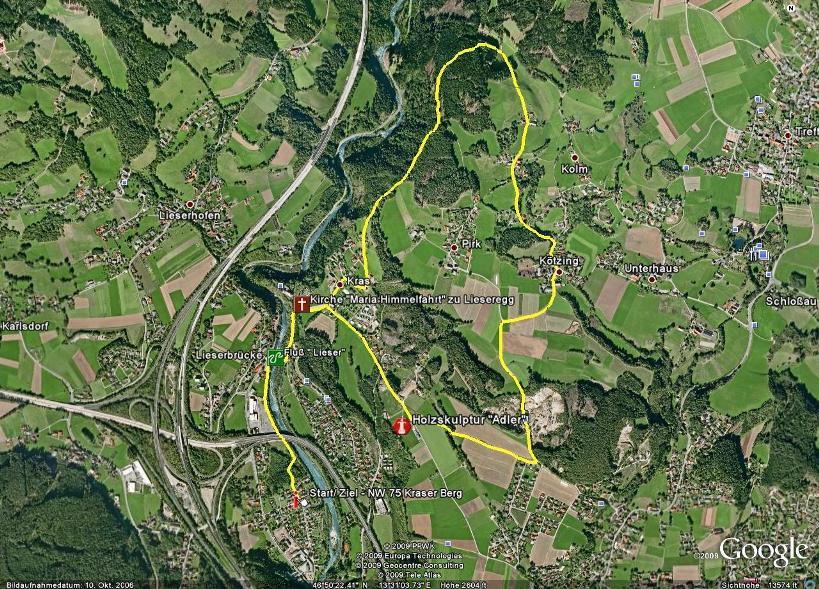 Foto: Seeboden / Nordic Walking Tour / NW 75 Kraser Berg / 18.08.2009 14:42:29