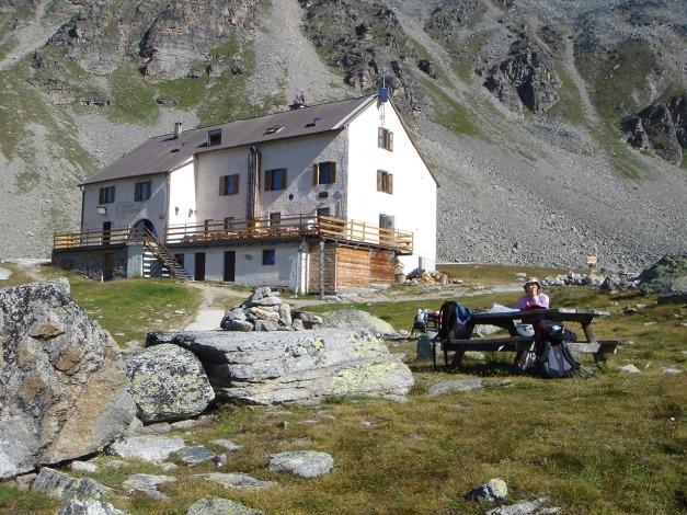 Foto: Manfred Karl / Klettersteig Tour / Südwand Klettersteig auf die Tschenglser Hochwand / Gemütlicher Rastplatz / 22.08.2009 21:19:40