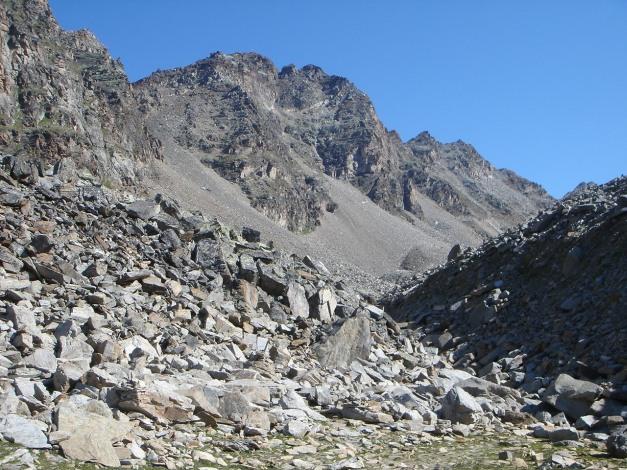 Foto: Manfred Karl / Klettersteig Tour / Südwand Klettersteig auf die Tschenglser Hochwand / Zustieg zur Tschenglser Hochwand / 22.08.2009 21:19:03