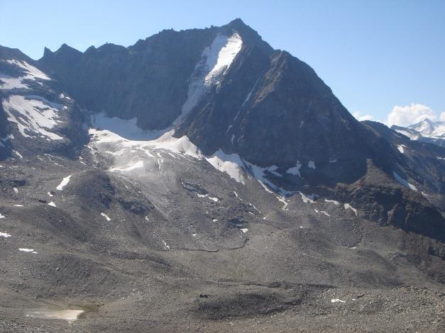 Foto: Manfred Karl / Klettersteig Tour / Südwand Klettersteig auf die Tschenglser Hochwand / Vertainspitze, über den Nordwestgrat (re. im Bild) führt eine leichte, schöne Klettertour im 2. und 3. Grad / 22.08.2009 21:17:43