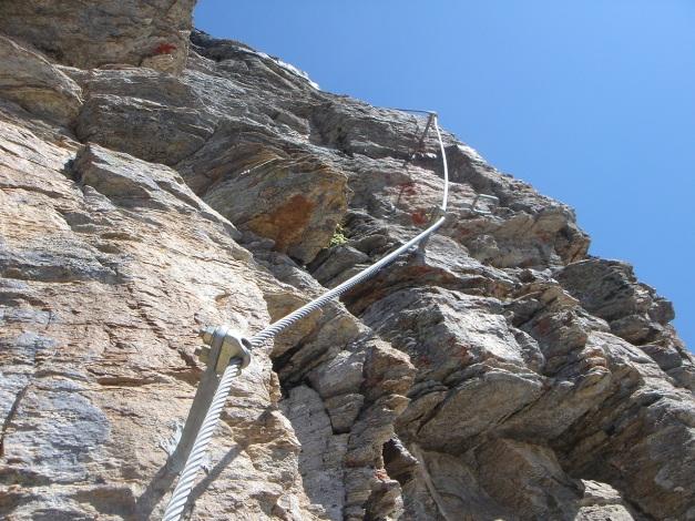 Foto: Manfred Karl / Klettersteig Tour / Südwand Klettersteig auf die Tschenglser Hochwand / In der Einstiegswand / 22.08.2009 21:15:39
